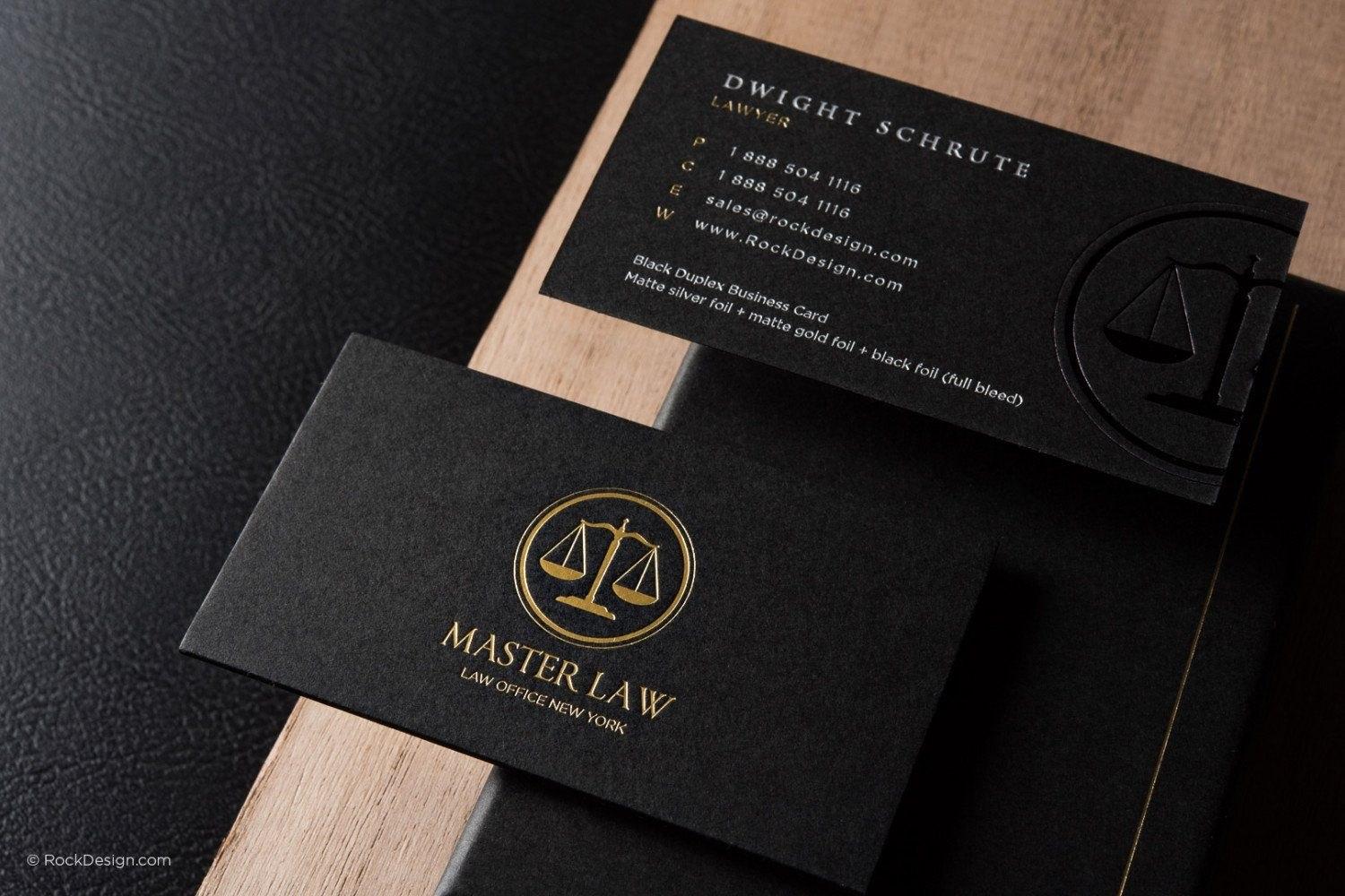 Free Lawyer Business Card Template  Rockdesign  Business Cards With Lawyer Business Cards Templates