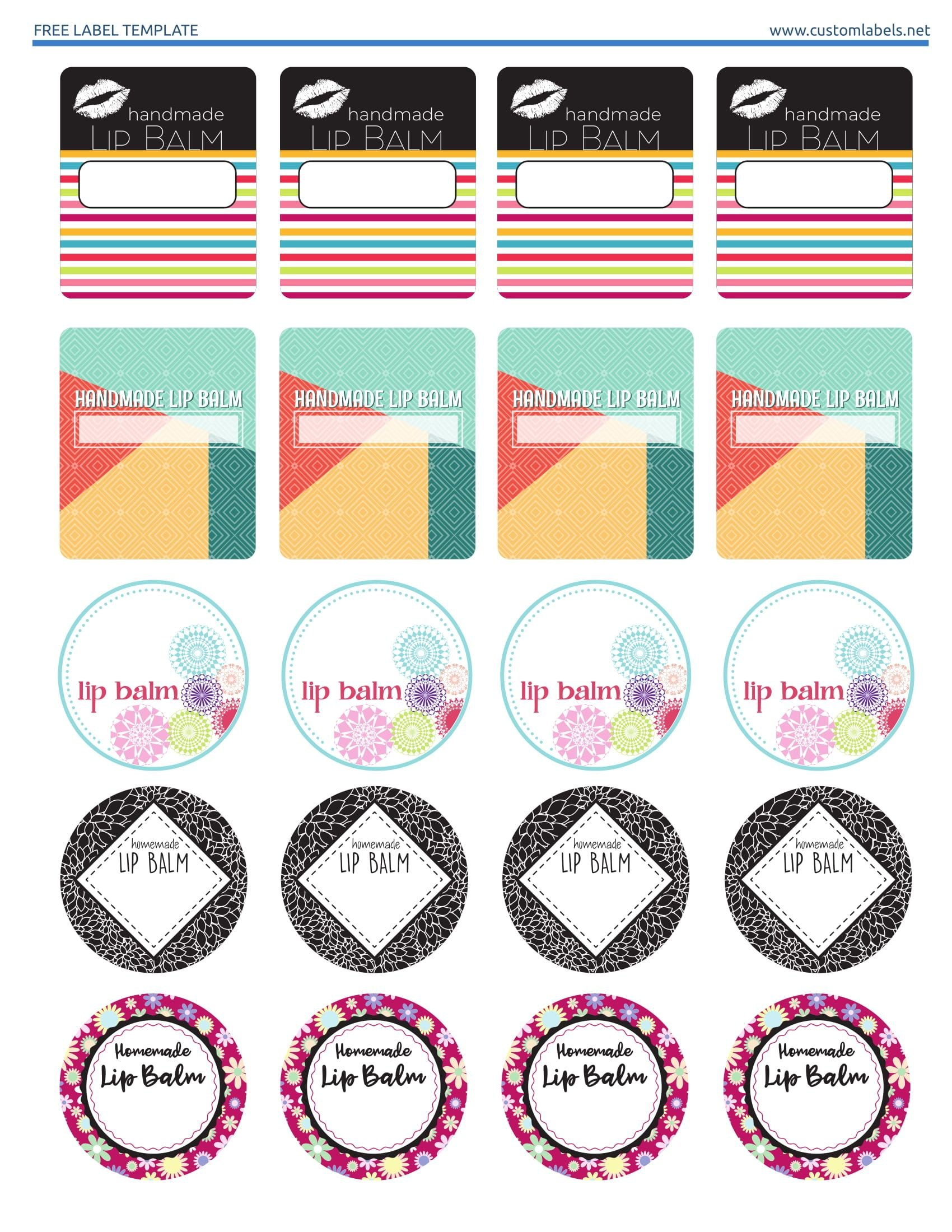 Free Lip Balm Label Printables Editable Template Available On The With Regard To Lip Balm Label Template