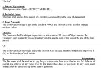 Free Loan Agreement Templates Word  Pdf ᐅ Template Lab regarding Commercial Mortgage Broker Fee Agreement Template