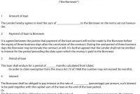 Free Loan Agreement Templates Word  Pdf ᐅ Template Lab with Private Loan Agreement Template Free