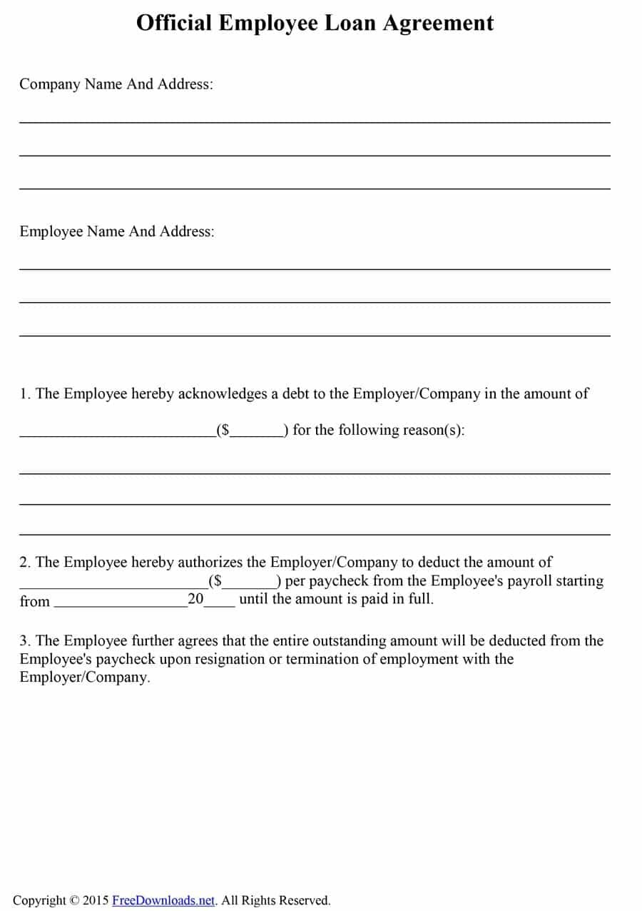Free Loan Agreement Templates Word  Pdf ᐅ Template Lab Within Legal Contract Template For Borrowing Money
