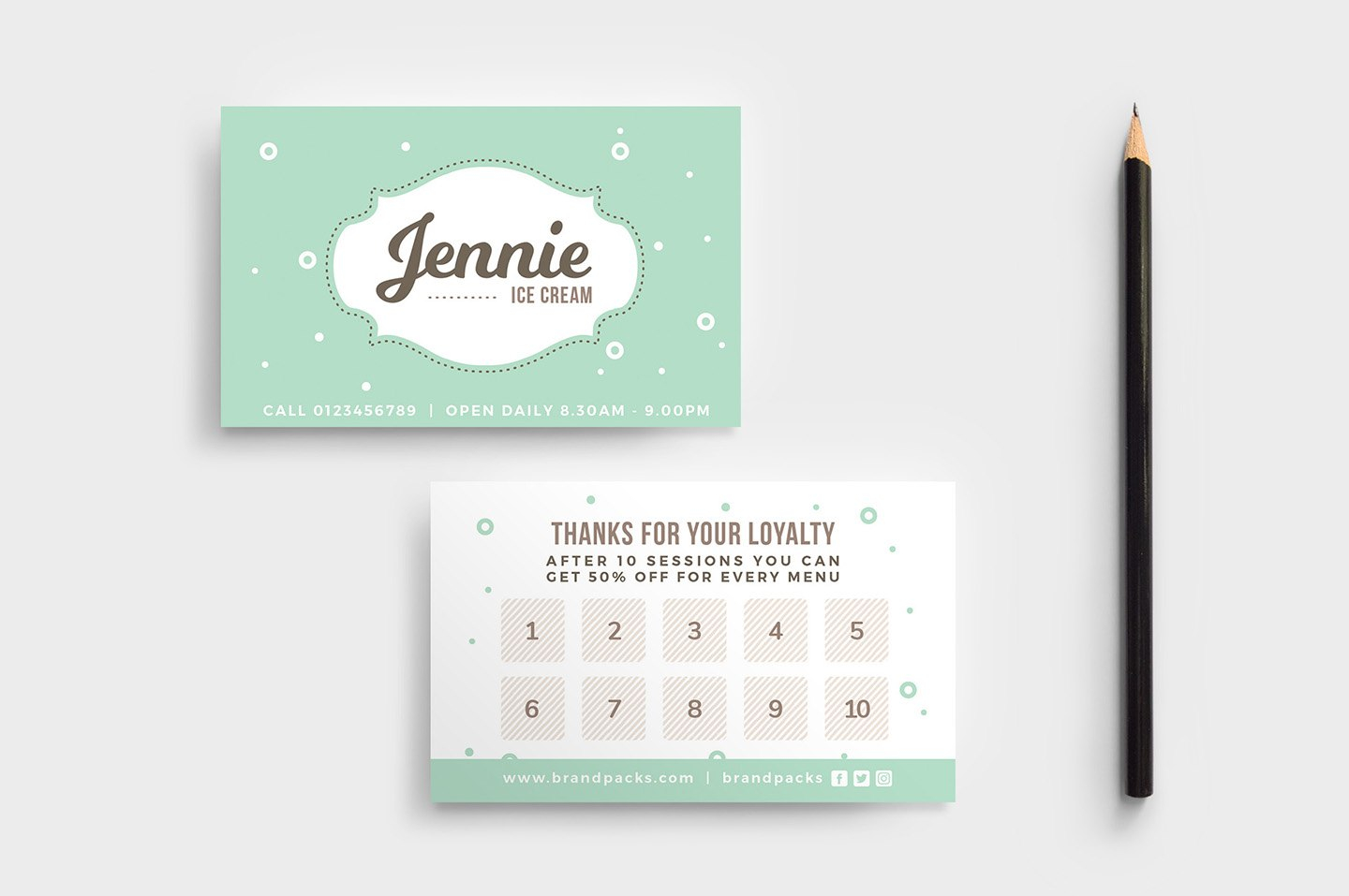 Free Loyalty Card Templates  Psd Ai  Vector  Brandpacks Within Loyalty Card Design Template