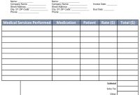 Free Medical Invoice Template  Word  Pdf  Eforms – Free Fillable pertaining to Doctors Invoice Template
