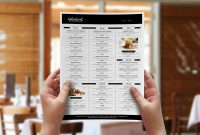 Free Menu Template Vol  Brandpacks pertaining to Adobe Illustrator Menu Template