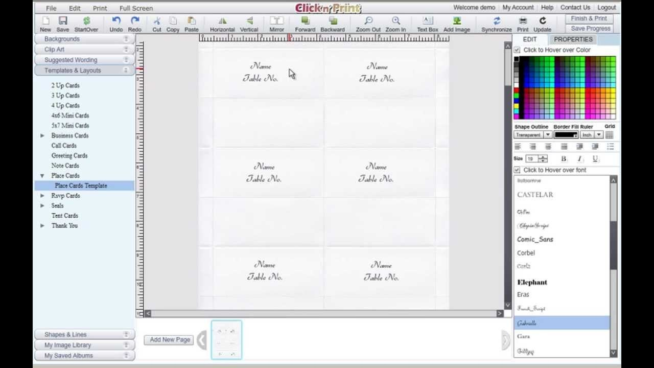 Free Microsoft Word Place Card Template – Dlword Regarding Ms Word Place Card Template