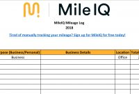 Free Mileage Log Template For Excel  Track Your Miles with regard to Gas Mileage Expense Report Template