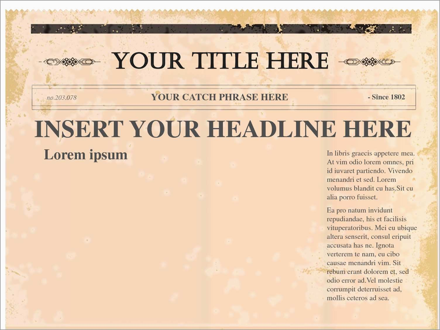 Free Newspaper Article Template Fresh  Newspaper Template Word With Regard To Blank Newspaper Template For Word
