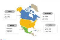 Free North America Map Template  Free Powerpoint Templates with regard to United States Map Template Blank
