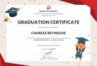 Free Nursery Graduation Certificate Template In Psd Ms  Download Within 5Th Grade Graduation Certificate Template