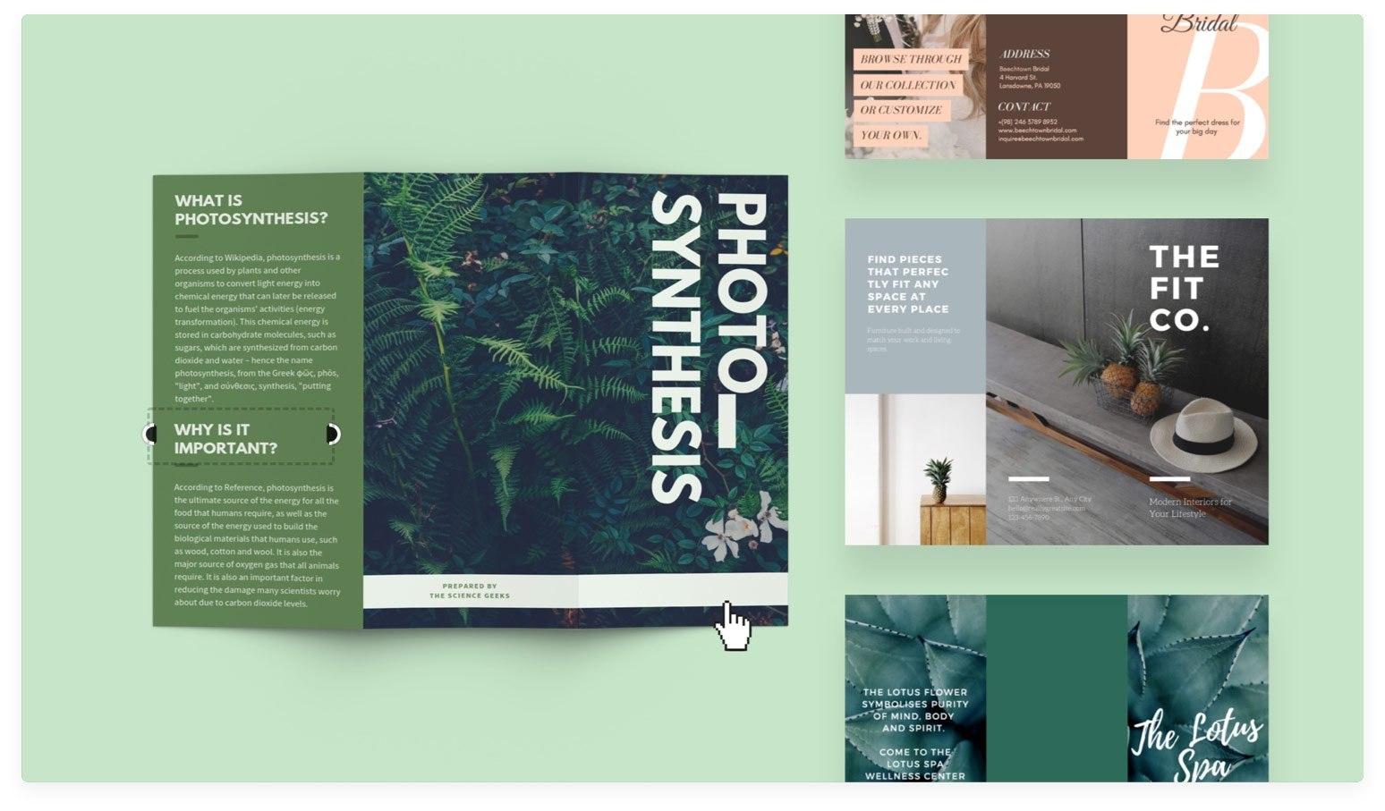 Free Online Brochure Maker Design A Custom Brochure In Canva Inside Online Free Brochure Design Templates