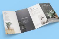 Free Panel Quadfold Brochure Mockup Psd  Good Mockups for 4 Panel Brochure Template