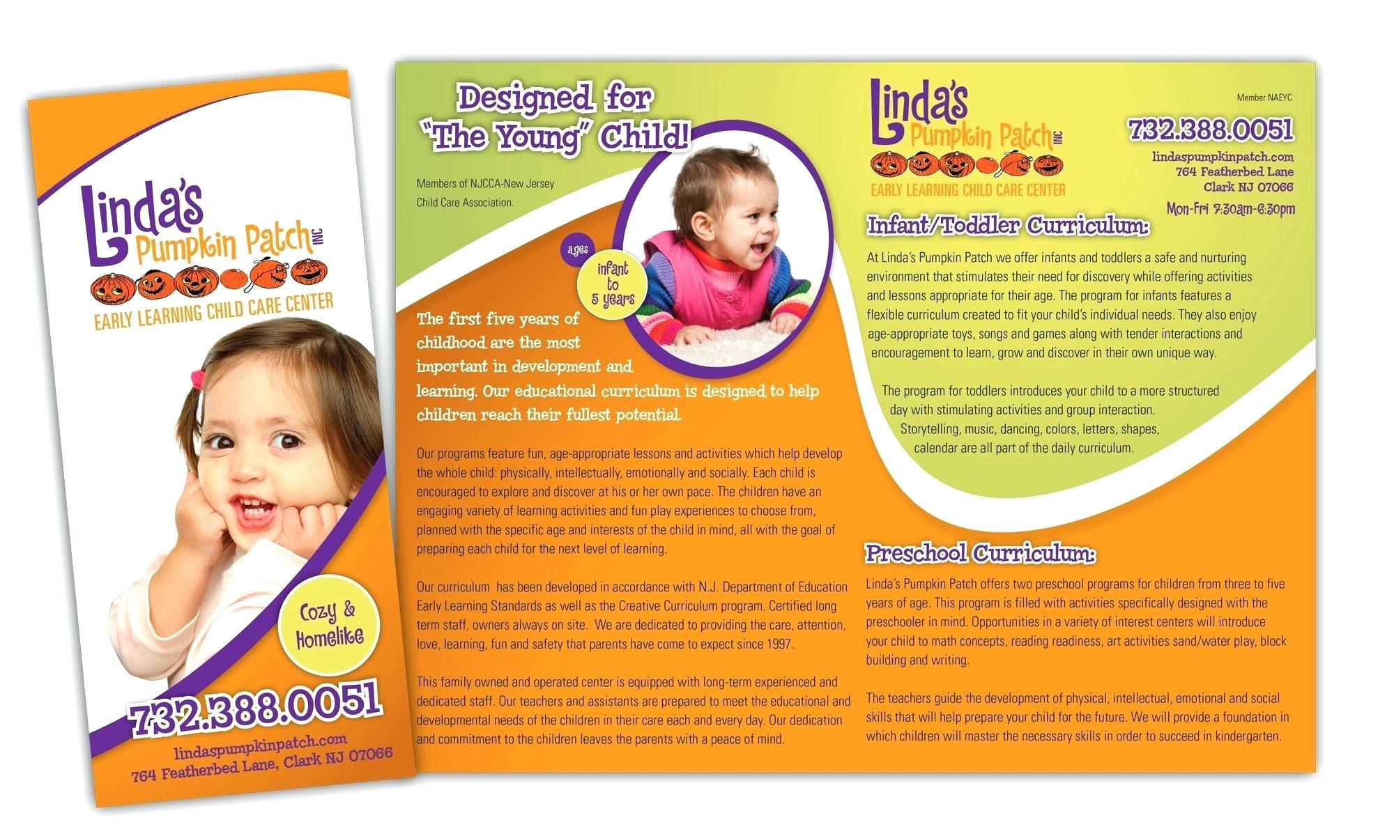 Free Pediatric Brochure Template – Verypageco intended for Daycare Brochure Template