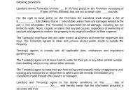 Free Pet Addendum To Lease  Pdf  Word  Eforms – Free Fillable Forms throughout Pet Addendum To Lease Agreement Template