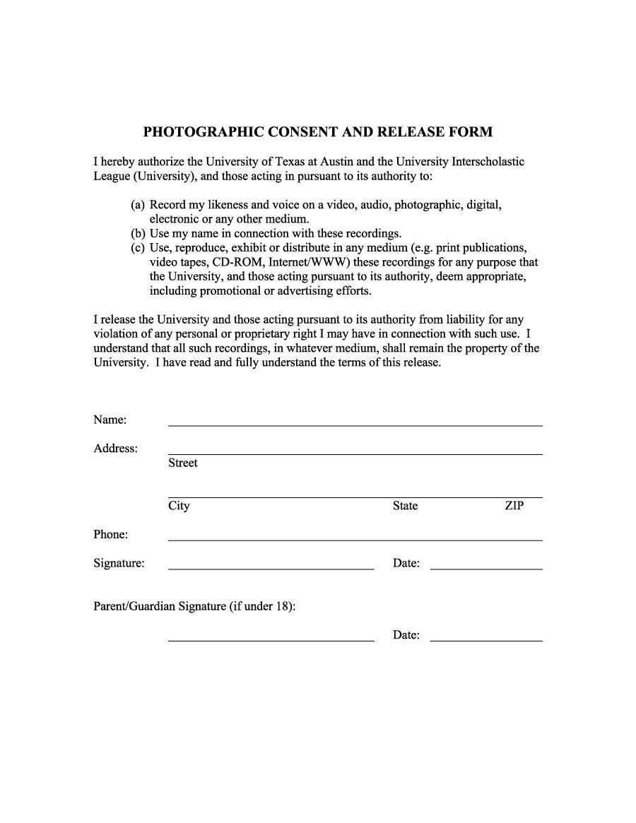 Free Photo Release Form Templates Word Pdf ᐅ Template Lab Inside Free Newspaper Advertising Contract Template