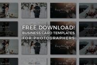 Free Photographer Business Card Templates  Signature Edits  Edit inside Photography Business Card Templates Free Download