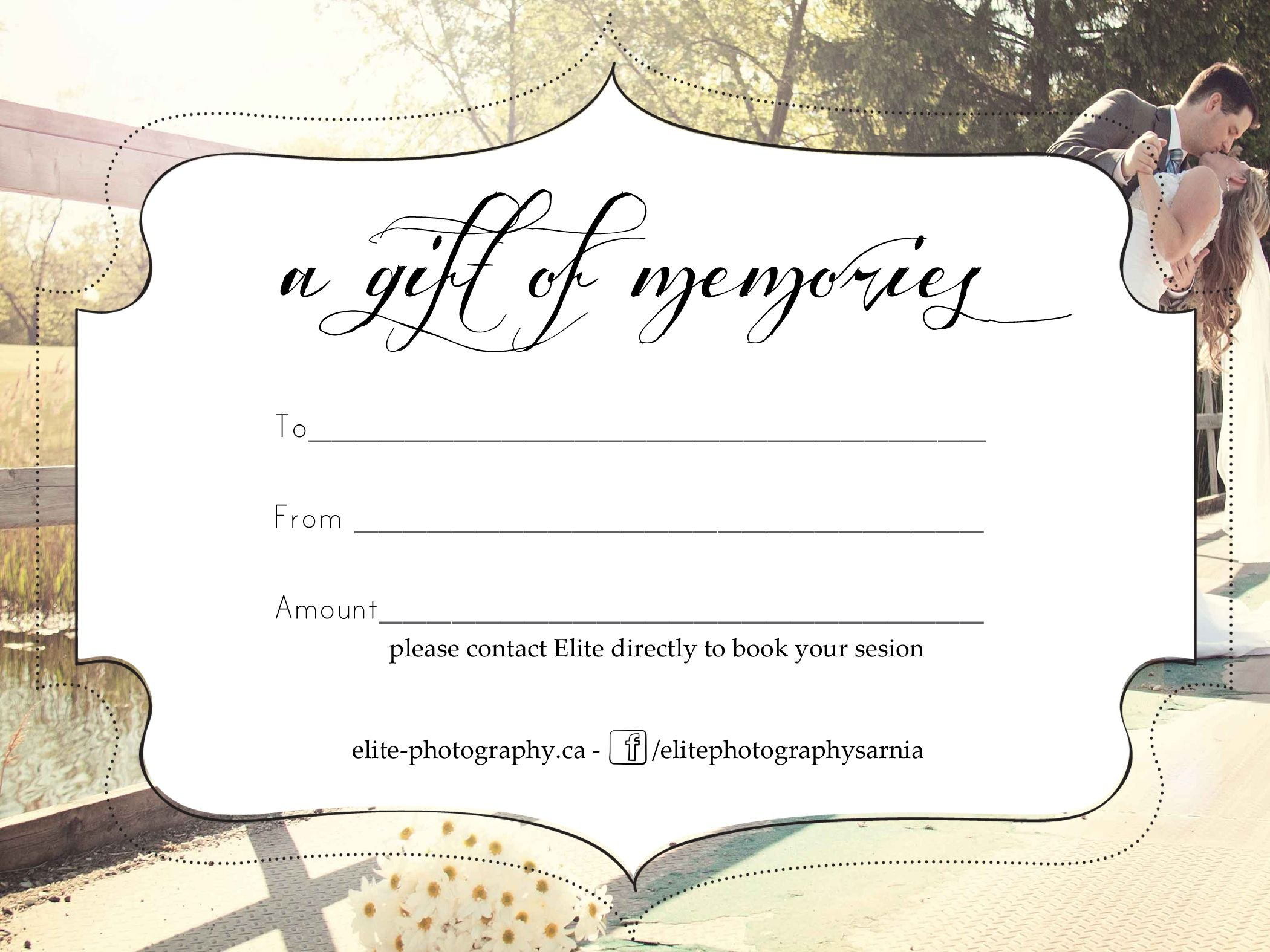 Free Photography Gift Certificate Templatesharetemplatedesigncom Inside Tattoo Gift Certificate Template