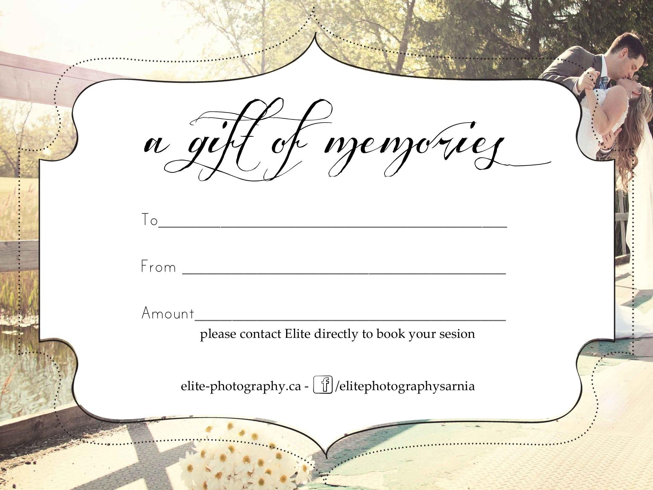 Free Photography Gift Certificate Templatesharetemplatedesigncom Pertaining To Photoshoot Gift Certificate Template