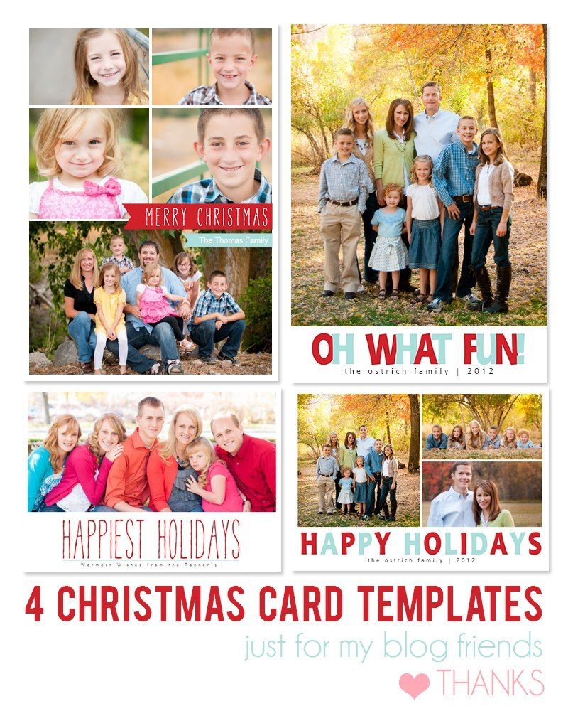 Free Photoshop Holiday Card Templates From Mom And Camera  Flourish Throughout Free Christmas Card Templates For Photoshop