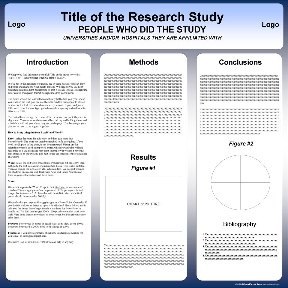 Free Powerpoint Scientific Research Poster Templates For Printing Inside Powerpoint Academic Poster Template