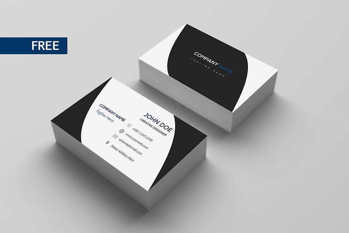 Free Print Design Business Card Template  Creativetacos Within Free Bussiness Card Template