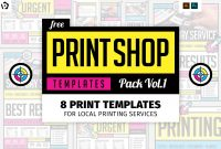 Free Print Shop Templates For Local Printing Services  Brandpacks Throughout Template For Cards To Print Free