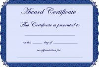 Free Printable Award Certificate Borders   Award Certificate In Borderless Certificate Templates