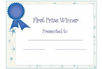 Free Printable Award Certificate Template  Free Printable First intended for Generic Certificate Template