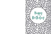 Free Printable Birthday Cards  Paper Trail Design pertaining to Foldable Birthday Card Template