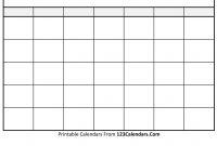 Free Printable Blank Calendar  Calendars pertaining to Blank Calender Template