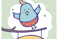 Free Printable Bluebird Of Happiness Greeting Cardlittlestar regarding Good Luck Card Template