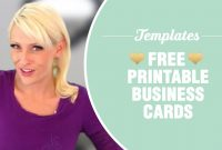 Free Printable Business Cards  Templates Included  Youtube with regard to Free Template Business Cards To Print