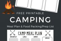 Free Printable Camping Food List  Menu Plan  Must Have Mom Regarding Camping Menu Planner Template