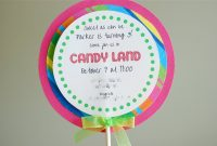 Free Printable Candyland Invitation Templates   Than I Could inside Blank Candyland Template