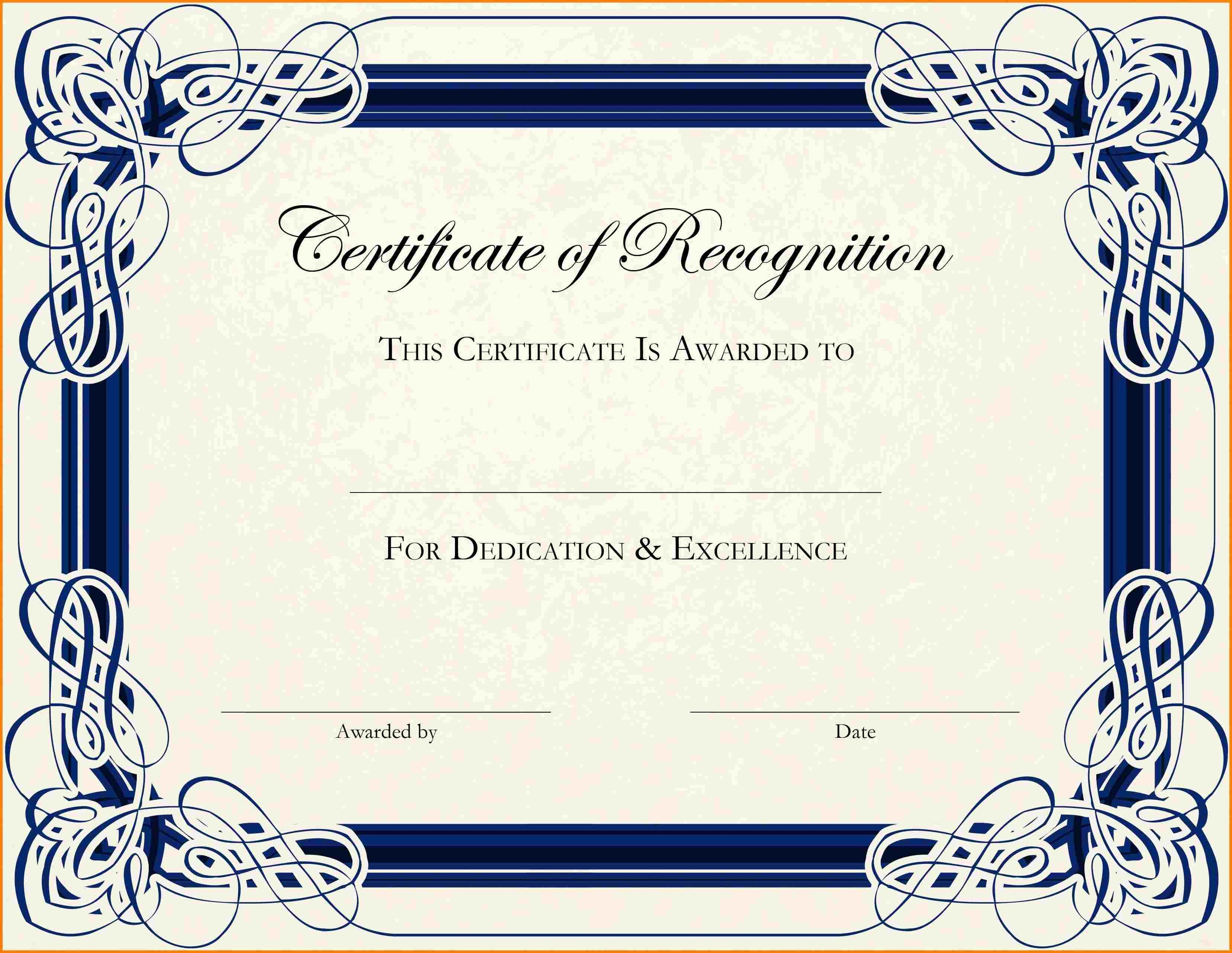 Free Printable Certificate Border Templates  Sample Of Invoice With Certificate Border Design Templates