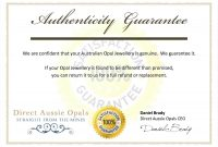 Free Printable Certificate Of Authenticity Templates Resume Acur within Certificate Of Authenticity Template