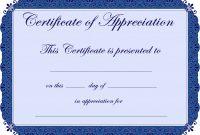 Free Printable Certificates Certificate Of Appreciation Certificate throughout Certificate Of Appreciation Template Free Printable