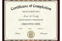 Free Printable Certificates  Certificate Templates for Certificate Of Completion Template Free Printable