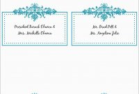 Free Printable Christmas Table Place Cards Template Lovely  Best Of in Table Name Cards Template Free
