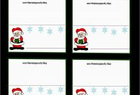 Free Printable Christmas Table Place Cards Template Prettier Free regarding Table Name Cards Template Free