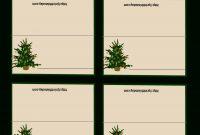 Free Printable Christmas Tree Place Cards   Free Holiday with Christmas Table Place Cards Template