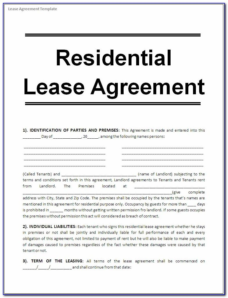 Free Printable Commercial Lease Agreement Forms  Form  Resume Intended For Free Printable Commercial Lease Agreement Template