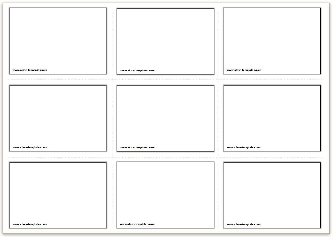 Free Printable Flash Cards Template In Cue Card Template