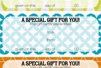 Free Printable Gift Certificate Template Singular Ideas pertaining to Certificate Template For Pages