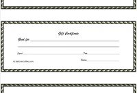 Free Printable Gift Certificates Template Ideas T Bunch Of within Homemade Christmas Gift Certificates Templates