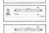 Free Printable  Gift Certificates  The Graphics Fairy pertaining to Black And White Gift Certificate Template Free