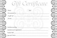 Free Printable Gifts Certificates Template Ideas Shocking Gift intended for Black And White Gift Certificate Template Free