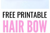 Free Printable Hair Bow Cards For Diy Hair Bows And Headbands  Make intended for Headband Card Template