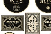 Free Printable Halloween Labels  Potions  The Graphics Fairy throughout Potion Label Template