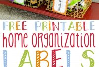 Free Printable Home Organization Labels  Bloggers' Best Home Tips within Storage Label Templates