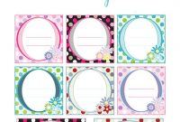 Free Printable Label Templates  Bunny Peculiar inside Book Label Template Free
